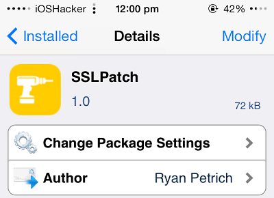 SSLPatch tweak