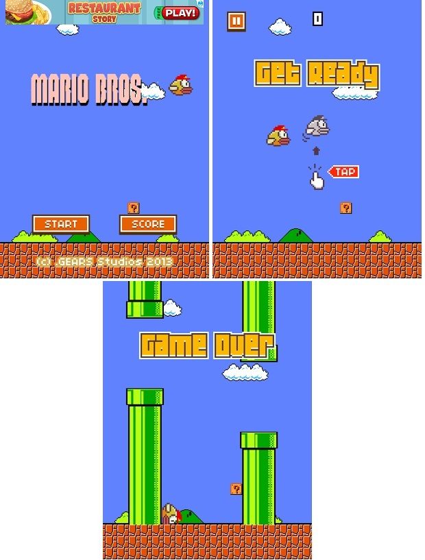 mario bros flappy bird