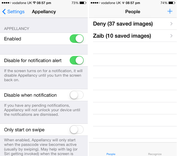 Appellancy tweak brings facial recognition based unlocking