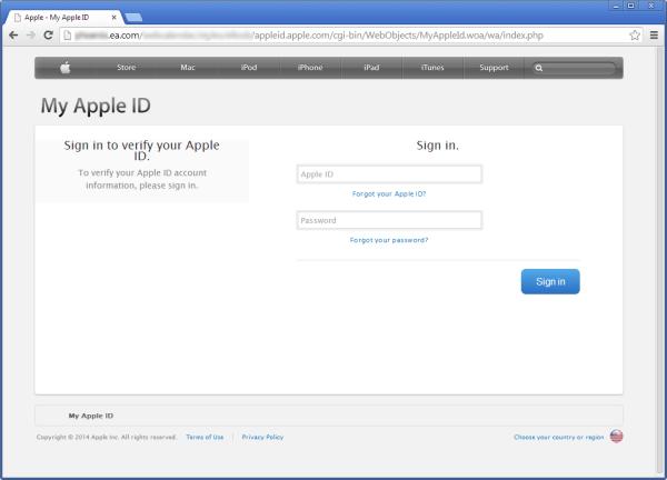 Beware: EA's website is redirecting users to fake My Apple ...