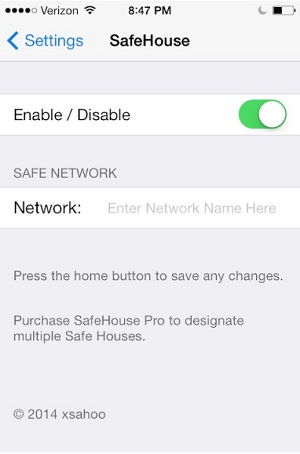 SafeHouse tweak