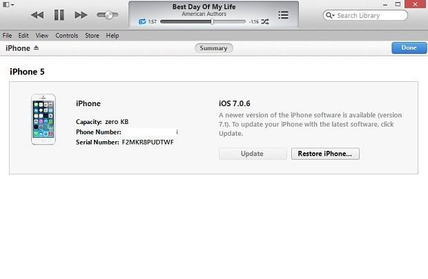 iPhone semirestore - 1