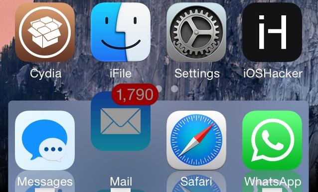 OS X Yosemite dock iPhone