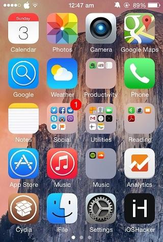 OS X Yosemite iPhone icon theme