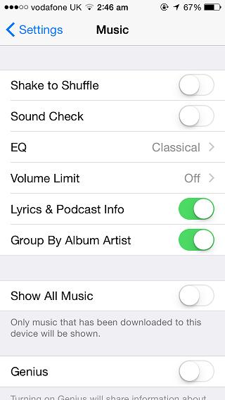 Show all Music iOS