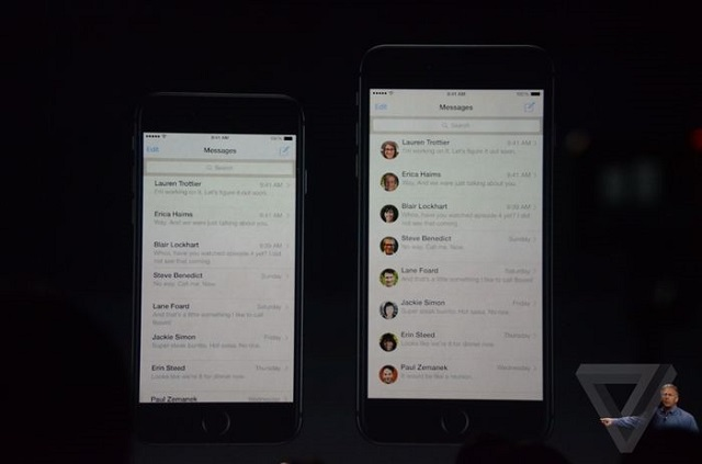 iPhone 6 plus messages