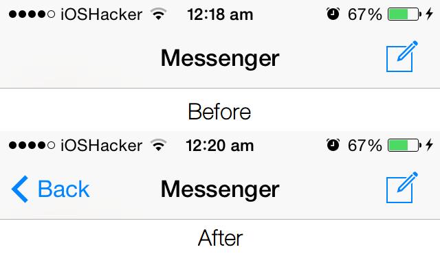 MessengerReturn tweak