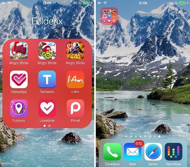 Customize the look of iOS folders with Folderix Cydia tweak