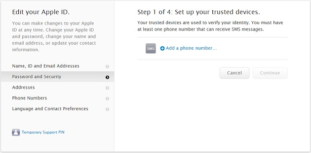 two-step verification Apple ID