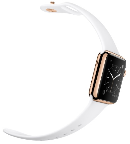 18-Karat Rose Gold Case with White Sport Band