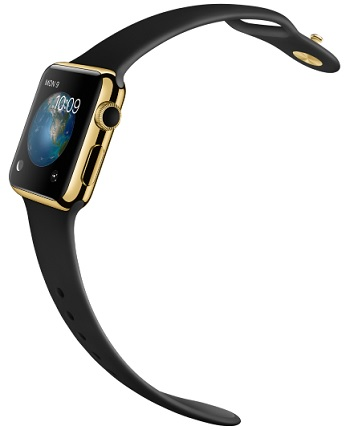 18-Karat Yellow Gold Case with Black Sport Band