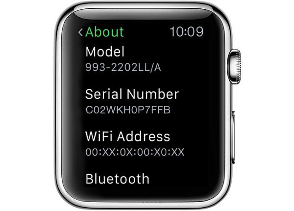 Apple Watch serial number 2