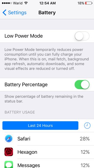 show battery percentage iphone how to hide or show battery percentage on ios 9 powered 16119