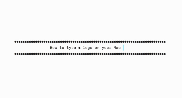 How To Type Apple Logo