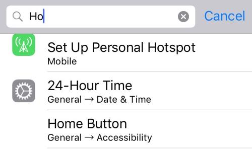 Settings Search iOS 9