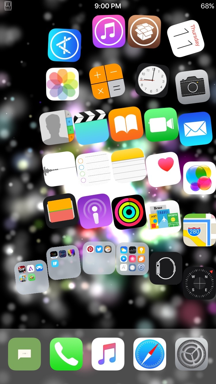 Gravitation makes your home icons bounce - iOS Hacker