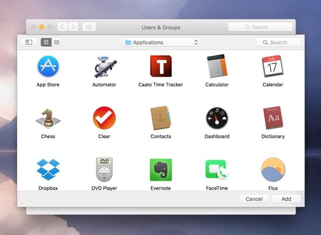 Open apps mac login