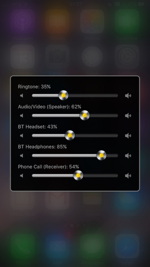 New tweaks to try: Volume Mixer 2, PauseAfterCall