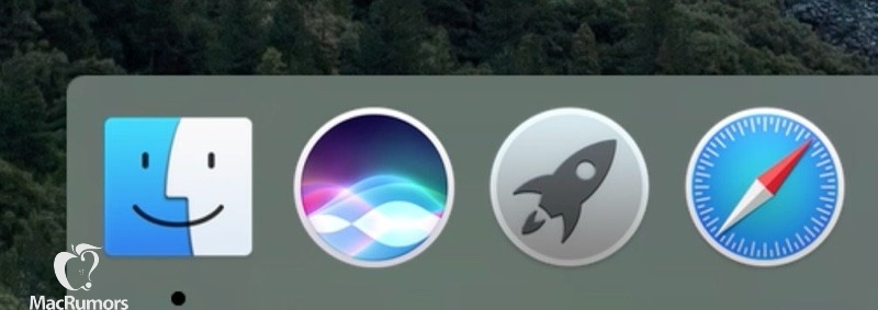 Siri icon dock