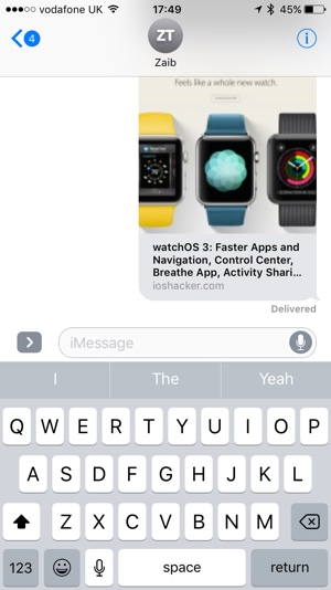 In-line Previews Messages