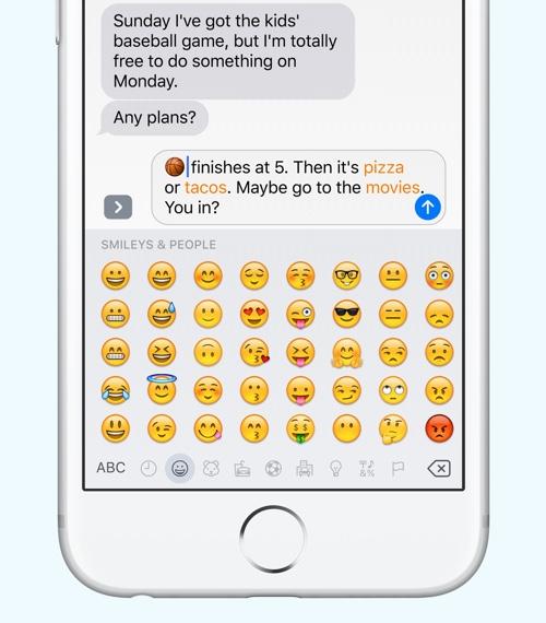 iOS 10 Messages Emoji