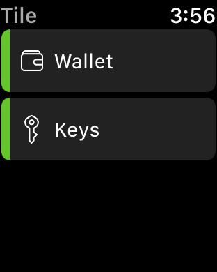 Tile also offers an Apple Watch app, allowing you to track your items right on your wrist.