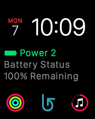 Get Your iPhone's Battery Status On Apple Watch With Power 2