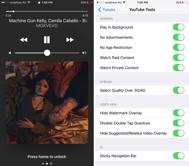 Youtube Tools Tweak Brings Ability to Play In Background