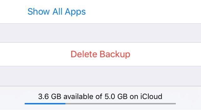 Delete iCloud Backups iPhone