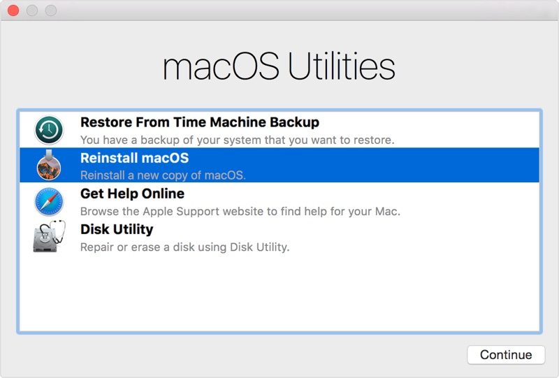 Reinstall macOS