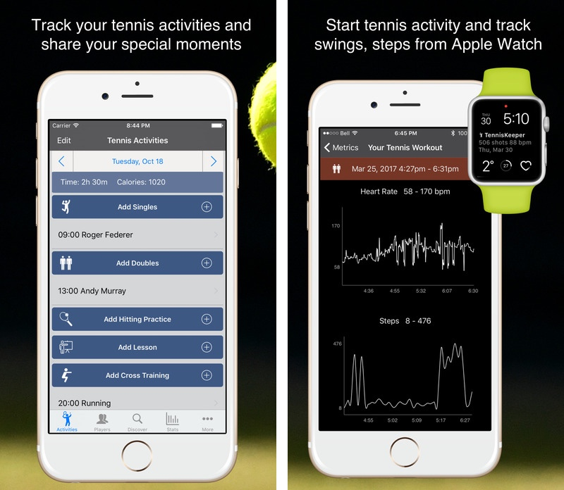 TennisKeeper for Apple Watch