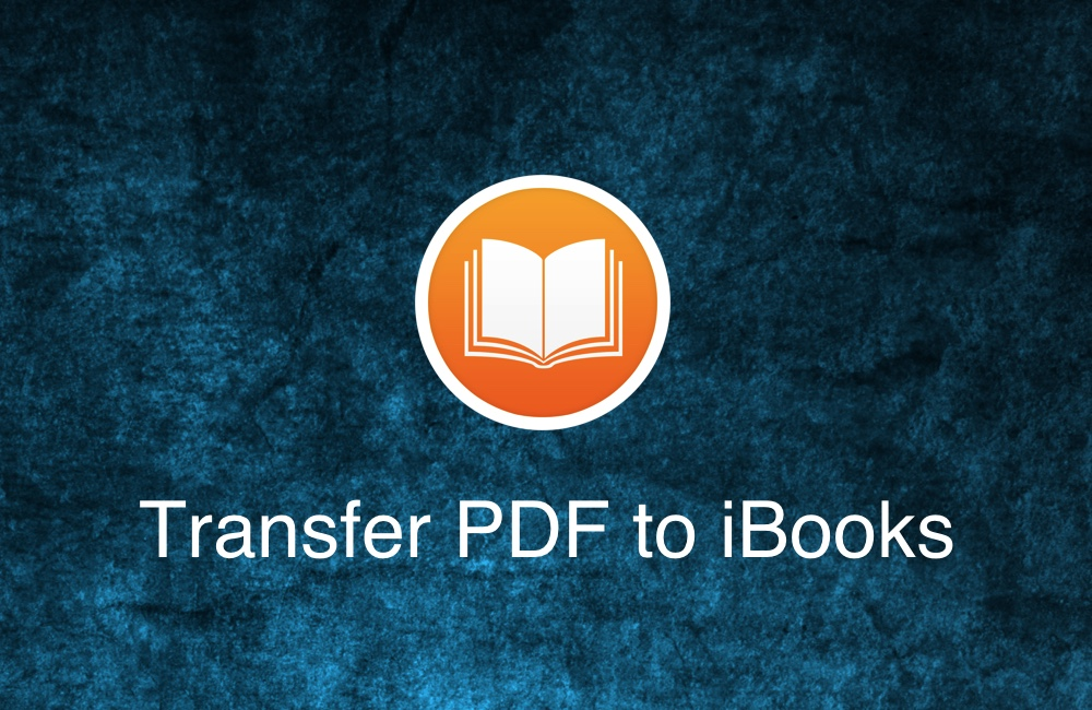 Transfer PDF Documents And Books to iBooks From Computer To