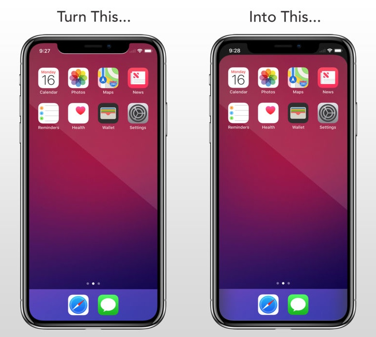 Notcho App Lets You Create Notch Less Wallpapers For Iphone