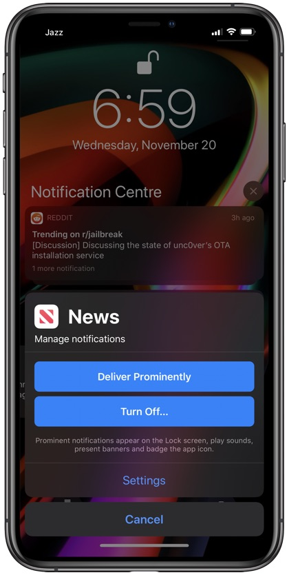Deliver Prominently notifications iPhone