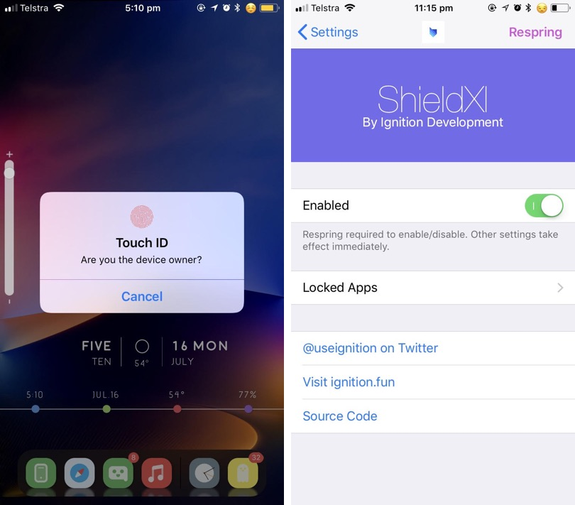 ShieldXI Tweak Lets You Lock Certain Apps With Face ID - iOS