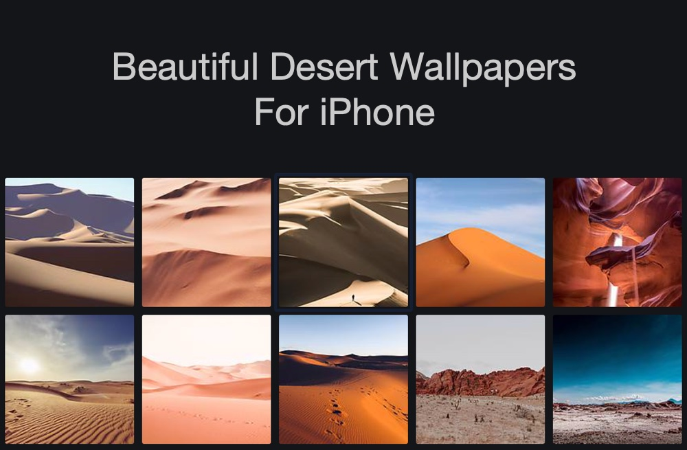 Download 12 Beautiful Desert Wallpapers For Iphone Xs Xs