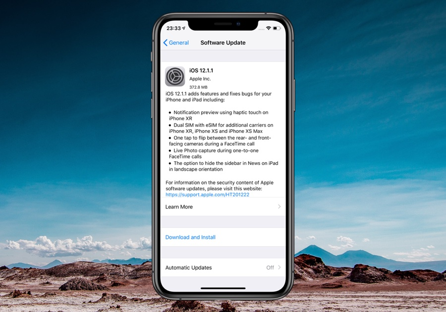 Apple Releases iOS 12 1 1 Along With macOS 10 14 2, tvOS 12 1 1 And