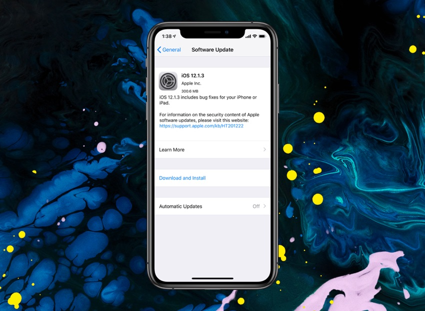 iOS 12 1 3 Is Now Available For Download (IPSW Links) - iOS Hacker