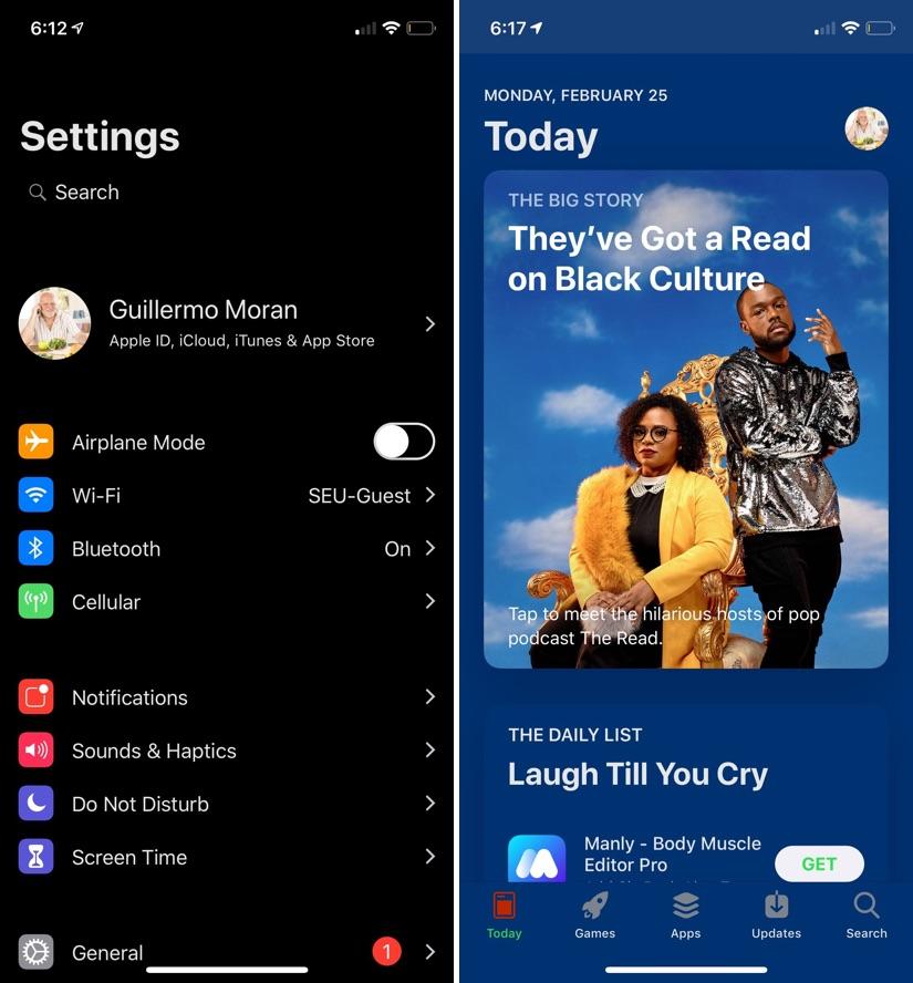 Dark mode tweak iOS 12
