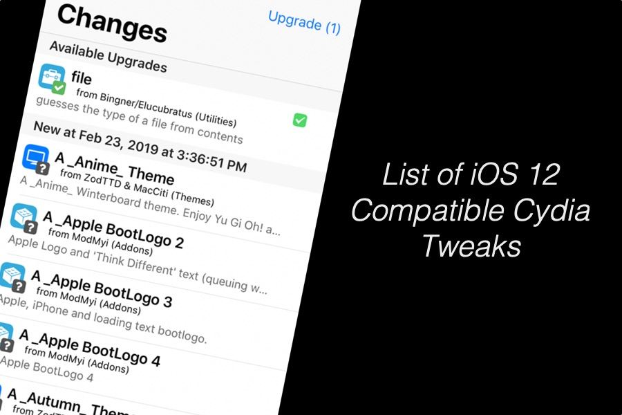 List Of 175+ iOS 12 Compatible Cydia Tweaks That You Can Download