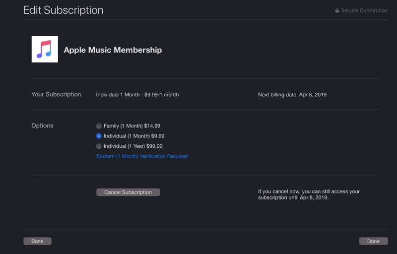How to cancel Apple Music mac