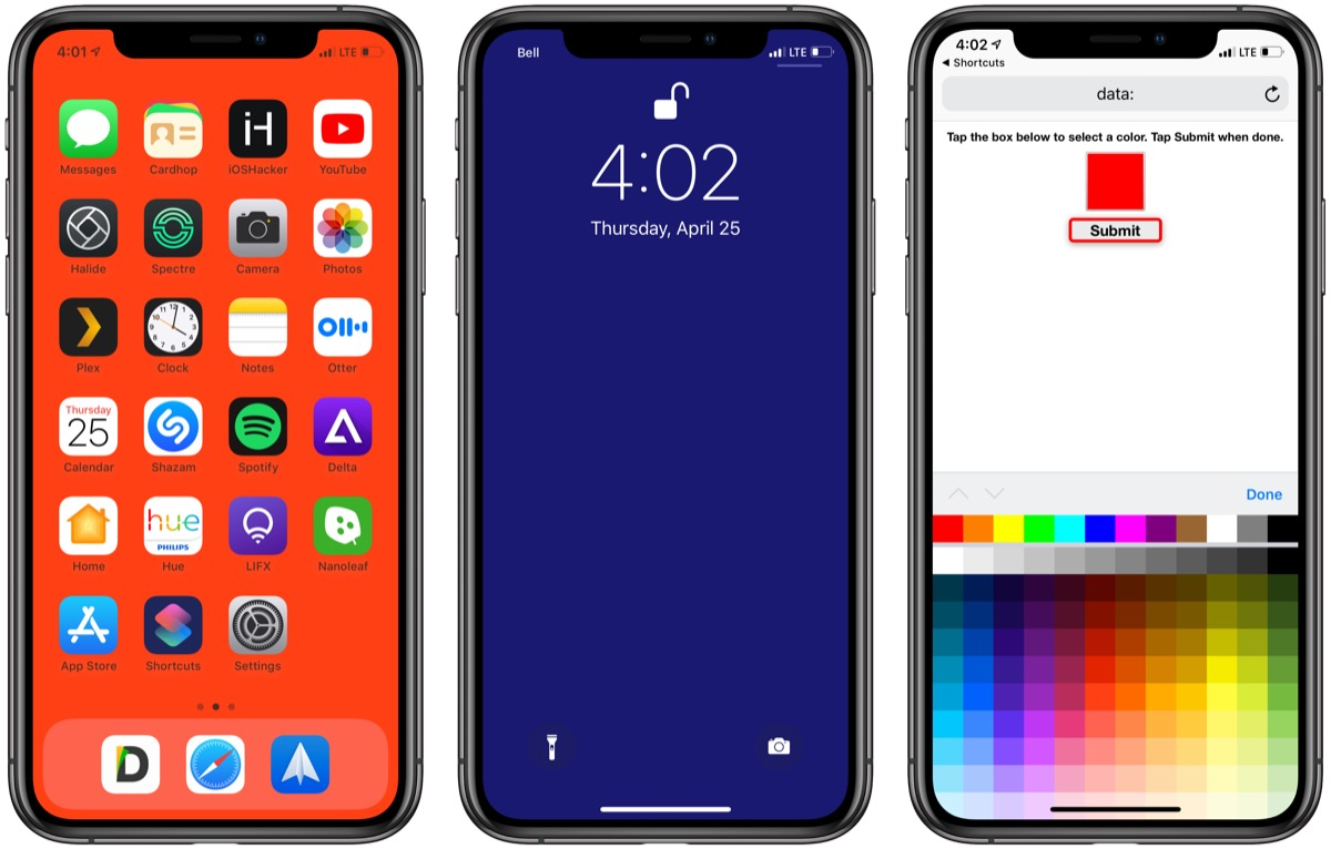 Create Solid Color Wallpapers With This Siri Shortcut Video