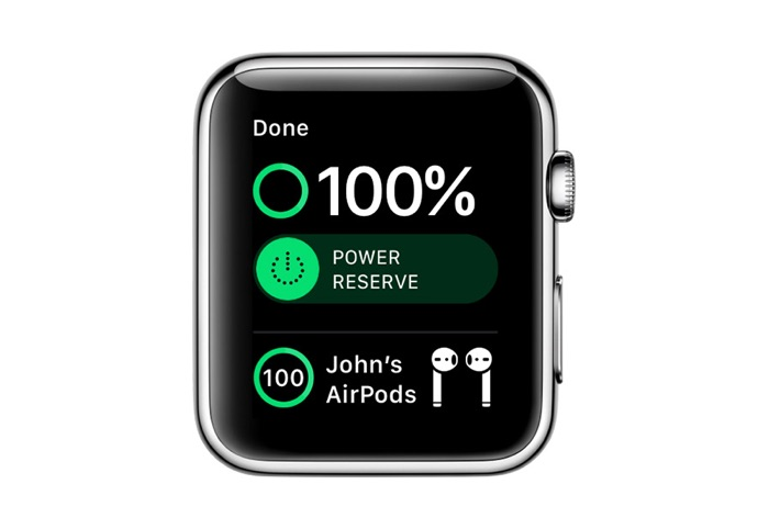 AirPods Battery Apple Watch
