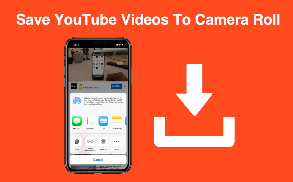 How To Save YouTube Videos Directly To iPhone or iPad Camera