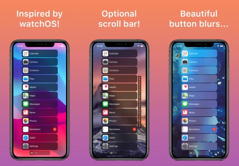 HomeList Tweak Brings Apple Watch Style App List To iOS