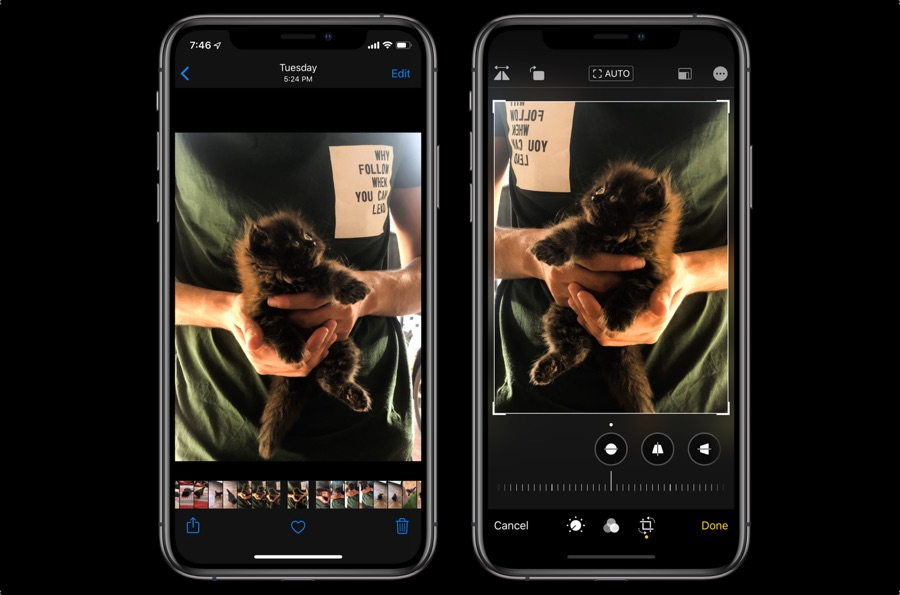 Flip photos in iOS 13