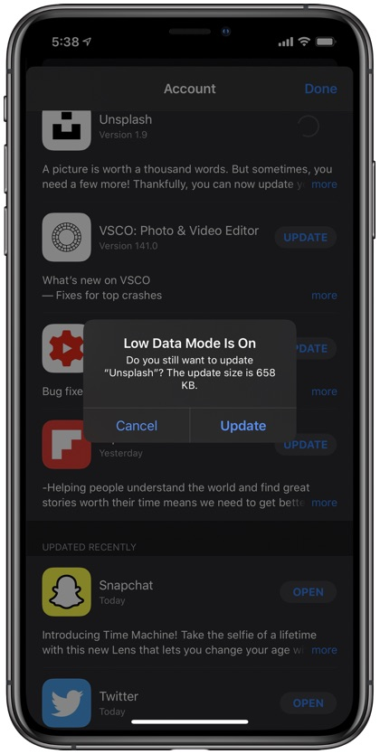 What is iPhone low data mode