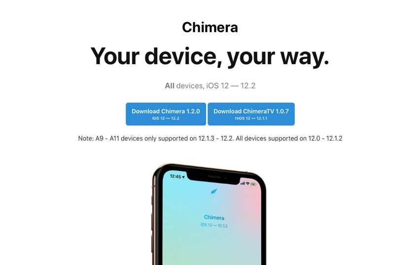 Chimera Tool Updated To Add iOS 12 2 Support - iOS Hacker