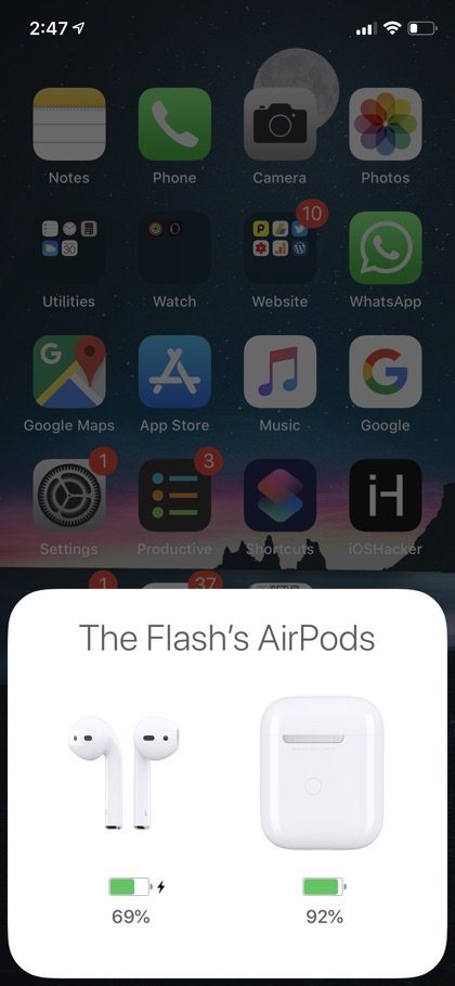 Check AirPods Battery iPhone