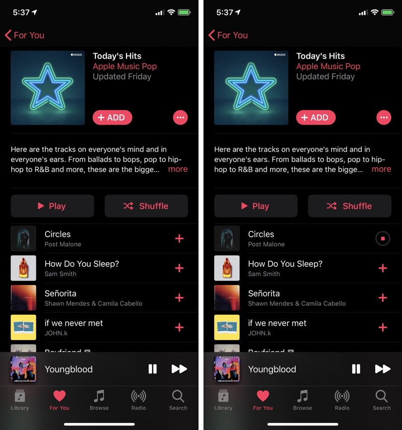 Add Apple Music Songs On iPhone